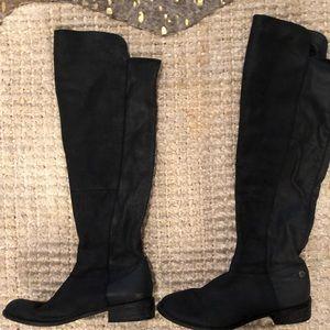 STEVE MADDEN black over the knee boot gently worn
